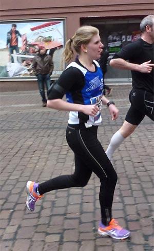 Nadine lief ein starkes Rennen