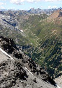 Die Ostrampe von der Payerhütte (3029 m) aus gesehen