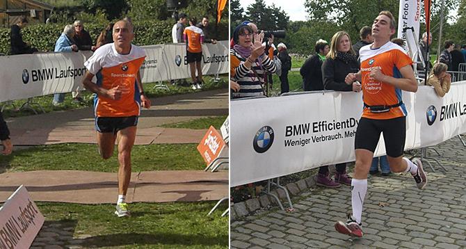 Ferhat bei der Halbzeit · Ivo Amrein lief sensationell unter die schnellsten 20 (13.)
