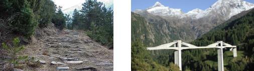 """am Schallberg: """"Der Berg ruft!"""" Ganter-Brigga: Sie gilt's zweimal zu """"unterqueren"""", anstatt einfacher, kürzer und schneller zu überqueren, wofür sie eigentlich gebaut wurde."""