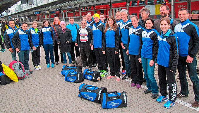 Machte Eindruck: Das LSVB-Team mit der neuen Vereinskleidung
