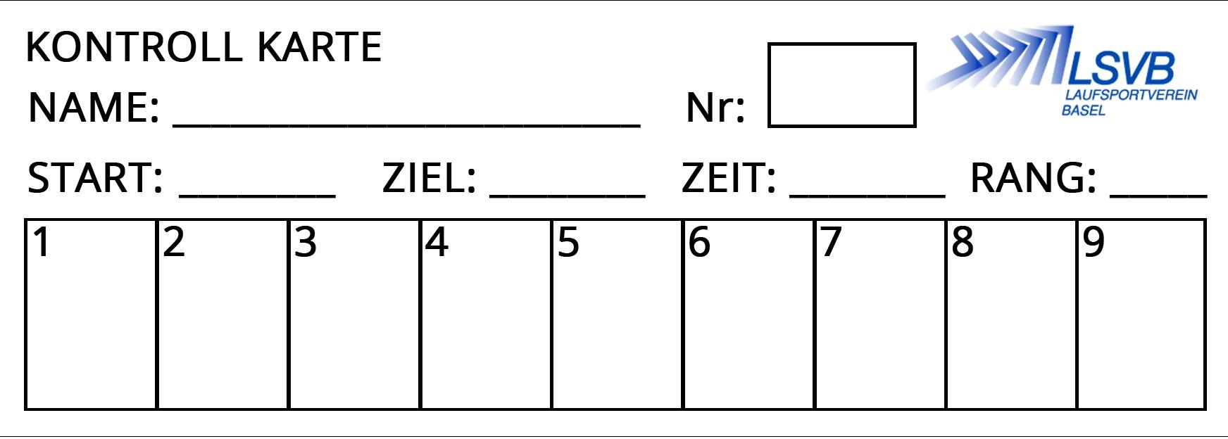 kontrollkarte