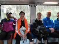 Gruppenbild im Zug