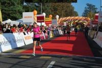 Renate Wyss beim Zieleinlauf